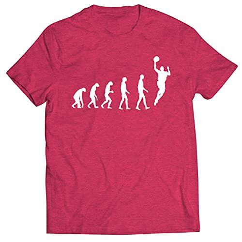 lepni.me Camisetas Hombre Evolución Baloncesto Baloncesto Callejero Me Encanta Este Juego Regalo para Fans (XL Brezo Rojo Multicolor)
