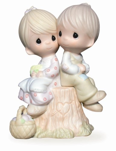 Precious Moments, Love One Another, Bisque Porcelain Figurine, E1376
