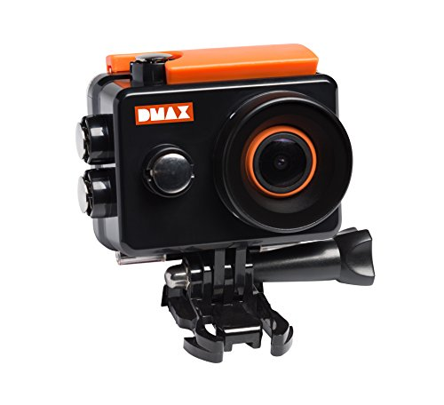 DMAX Action Cam Full HD WiFi mit 12 MP, 2 Zoll Display, 140° Betrachtungswinkel, WLAN, 1920*1080 Px Videoauflösung, wasserdichtem Gehäuse und umfangreichem Zubehör