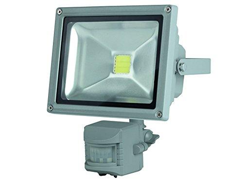 Perel Projecteur LED avec détecteur de Mouvement bewegungsmelder pour Le außenbereich, Puce Epistar 20 W, 3000 K, 19 x 12 x 22 cm, Gris, leda3002ww de GP