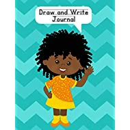 Draw and Write Journal: Composition Notebook for Kids - Paper With Primary Lines and Half Blank Space for Drawing Pictures - 140 Pages - Girl Design #1