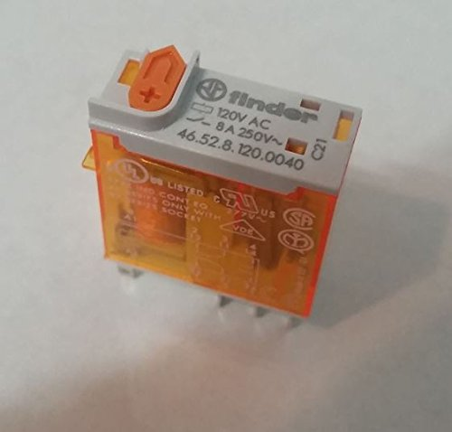 Power Relay, DPDT, 120 VAC, 8 A, 46 Series, Socket