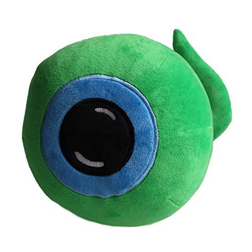 Mmurong Peluche Toy Doll Green Eye Stuffed Toys 25cm Cadeau pour Les Enfants