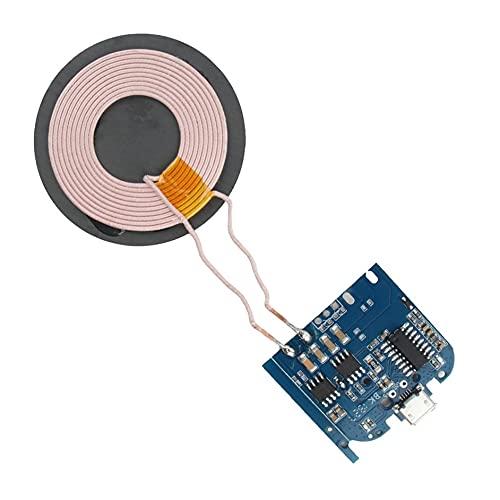 Ashley GAO DC5V 1A qi Módulo de Cargador inalámbrico de Bobina estándar Base del transmisor Placa PCBA Modificación de Programa Universal Estilo A