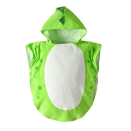 LGQ Toalla con Capucha para niños Toalla de baño con patrón de Dinosaurio Toalla de algodón súper Suave y Absorbente