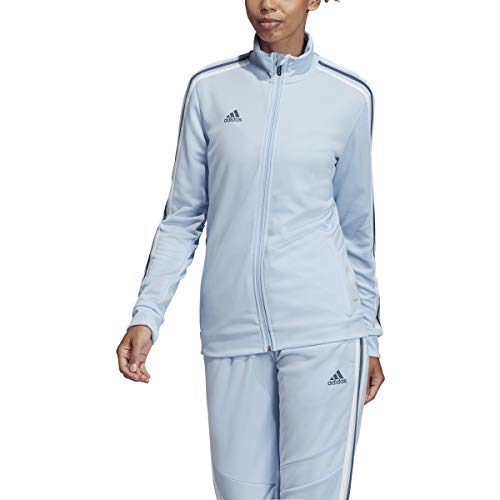 adidas Women's Alphaskin Tiro Jersey (Light/Pastel Blue/White, Medium)