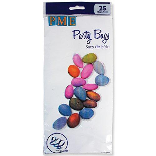 PME BP500 Bustine Trasparenti con Laccetti di Chiusura per Confetti e Caramelle, 11 x 0.1 x 23 cm, 25 unità