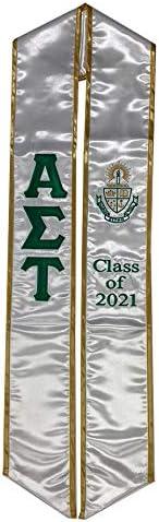Alpha Sigma favorite Tau Graduation Stole Sash Max 57% OFF