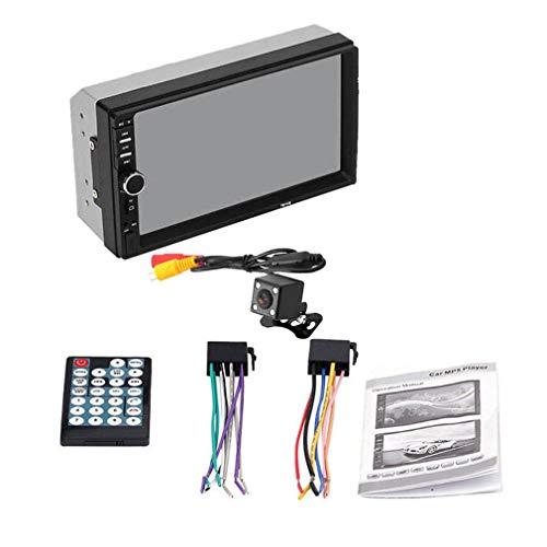 bansd 2 DIN MP5 Player 7 Pulgadas LCD Touch Screen Auto FM Radio Video Player con USB Black # 2