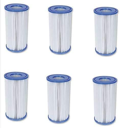 Bestway Filter-Kartusche Nr. 58012 (6er Pack) - auch für Intex-Pumpen