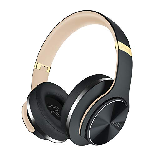 Wireless Bluetooth Headphones Over Ear, DOQAUS 52 Hrs Foldable Headphones...