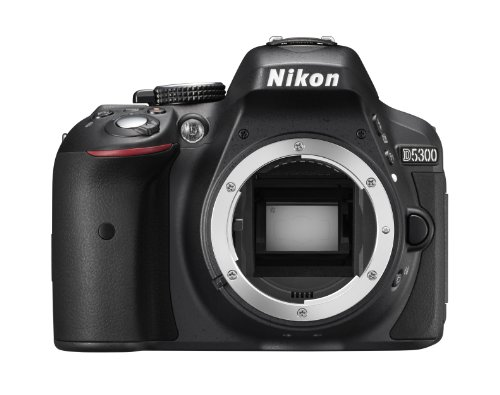 """Nikon D5300 Corpo Fotocamera Digitale Reflex, 24.1 Mbps, LCD HD da 3"""" Regolabile, SD da 8 GB, 200x Premium Lexar, Nero [Nital Card: 4 Anni di Garanzia]"""