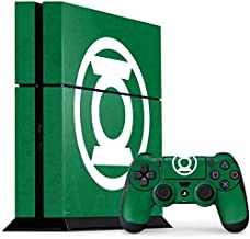 Skinit Decal Gaming Skin for PS4 Console and Controller Bundle - Officially Licensed Warner Bros Green Lantern Logo Green Design