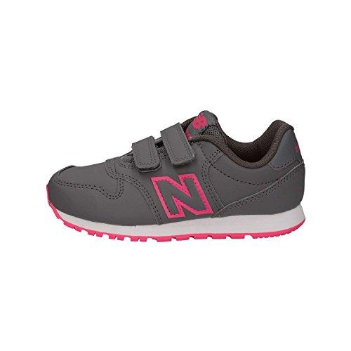 New Balance Mädchen Yv500v1 Sneaker, Grau (Grey/Pink Grey/Pink), 35 EU