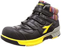 [ディアドラユーティリティ] 安全作業靴 JSAA認定 ハイカット プロスニーカー STELLERJAY ステラジェイ SJ25 ブラック/イエロー 25.5 cm 3E