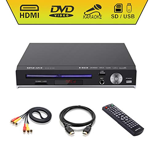 DVD Player-Digital DVD Player for TV Support 1080P Full HD Come with HDMI Cable Remote Control and Built-in PAL/NTSC System, USB Input DVD Players (HD DVD Player Upgraded)