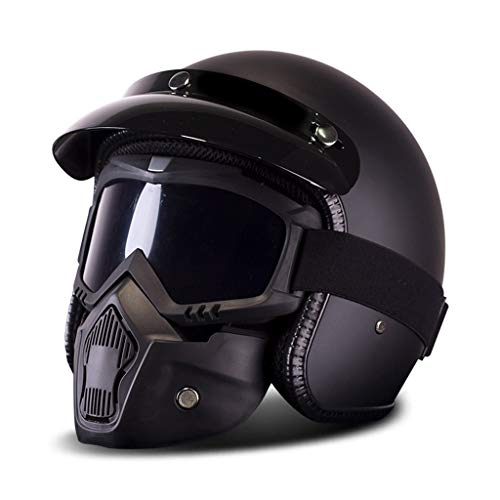 Casco De Moto Cafe Racer  marca SMC Casco