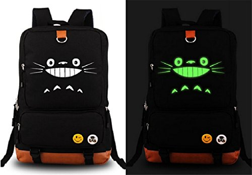 Siawasey My Neighbor Totoro Anime Cosplay Luminous Backpack Shoulder Bag School Bag