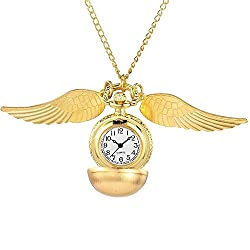 Modern Ball Wings Golden Snitch Pocket Fob Watches Steampunk Pocket Watch for Harry Potter Fans