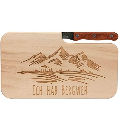 Spruchreif PREMIUM QUALITÄT 100% EMOTIONAL · Brotzeitbrett mit Messer · Brotzeitbrett mit Gravur · Holzbrett mit Messer · Geschenke für Wanderer · Outdoor Geschenke · Outdoor Frühstück
