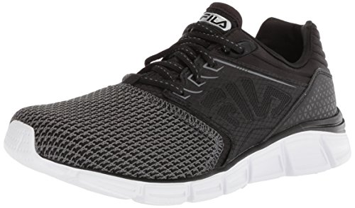 Fila Men's Memory MULTISWIFT 2 Running Shoe, Castlerock/Black/White, 9.5 Medium US