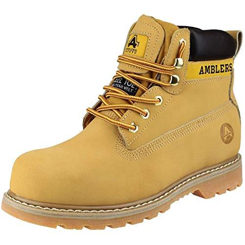 Amblers FS7 Damen Stahlkappen-Schuhe/Arbeitsschuhe/Stiefel (37 EUR) (Honig)