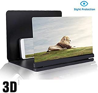 12'' 3D Screen Magnifier, Apa-DADA 2019 New Cell Phone HD Foldable Screen Enlarger Video Movie Amplifier Holder Stand for iPhone Xs/XR/X/8/8 Plus/7/7 Plus/6S, Galaxy S9+/S9/S8/S7,All Smart Phones