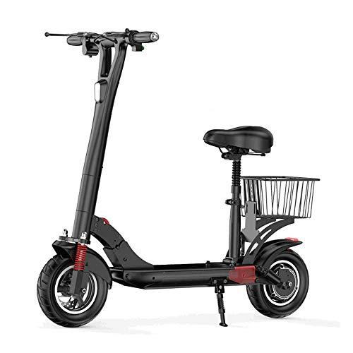 QLPP Scooter eléctrico para adultos con motor de 500 W, scooter eléctrico con pantalla LCD, distancia de conducción máxima de 28 mph, 40 millas con neumáticos de 10 pulgadas