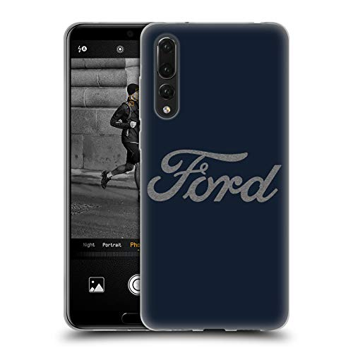 Head Case Designs Officially Licensed Ford Motor Company Detroit Ornament Logos Soft Gel Case Compatible with Huawei P20 Pro