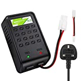 Keenstone Airsoft Battery Charger with Mini Tamiya Connector and Tamiya Standard Adapter for 1-8s NiMH...