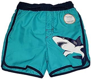 Toddler Boys Shark on Blue Cove Swim Short Trunk - 5T [並行輸入品]