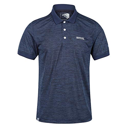 Regatta Polo Technique Sport REMEX II léger, Respirant et sèche Rapidement T-Shirts Vests Homme, Dark Denim, FR : M (Taille Fabricant : M)