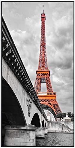 Ecowelle Infrarotheizung mit Bild | 750 Watt | 60x120 cm | Infrarot Heizung| | Made in Germany| d 30 Eiffelturm