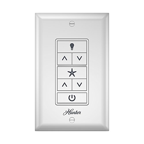 Hunter 99375 Indoor Ceiling Fan Universal Wall Control with Receiver, White