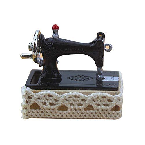 Casa de muñecas de bricolaje en miniatura, kit de máquina de coser de aleación 1/12, modelo de casa de muñecas en miniatura, accesorios de muebles, juego de roles para niños, cumpleaños y elección de