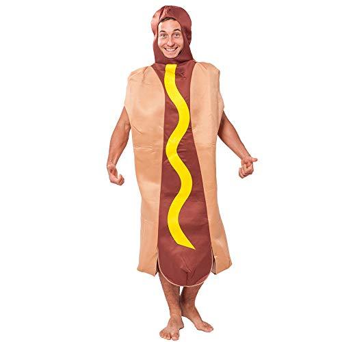 gousheng Cos Disfraz Comida Hot Dog Decoracion Disfraz Fiesta Celebracion Decoracion Disfraz Halloween Disfraz Hot Dog Disfraz Hombre Cospaly