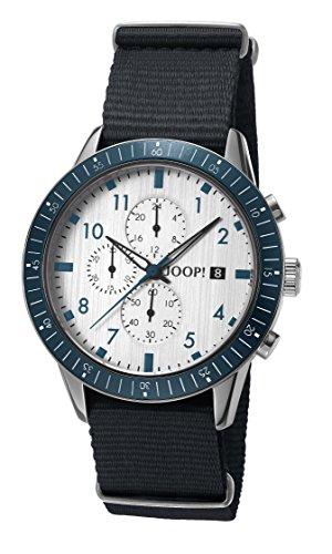 Joop! Herren Chronograph Quarz Uhr mit Textil Armband JP101881004