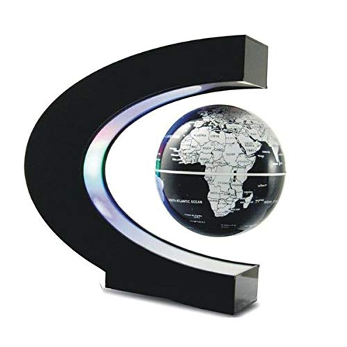 Nihlsfen Lámpara de Bola de Mapa del Mundo Flotante de Globo de levitación magnética, iluminación Fresca, decoración del hogar de Oficina, lámpara de Globo terrestre