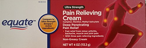 Equate Ultra Strength Pain Relieving Cream Muscle Rub, 4-Ounce Tube