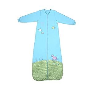 Schlummersack Saco de Dormir de Manga Larga para niña, Color Turquesa en 3,5 TOG, 150 cm, 6-10 años