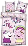 BrandMac ApS Peppa Pig - Ropa de cama infantil (100 x 135 cm, 40 x 60 cm, algodón), diseño de Peppa Pig