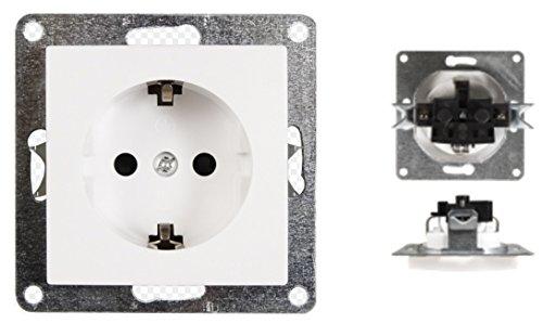 VARIATION Lichtschalter Schalter Taster Wechsel-Serien-Schalter Jalousie-Schalter Dimmer Antennen-Dose ISDN-Steckdose für RJ45 + RJ11 (Unterputz-Schutzkontakt-Steckdose (ohne Rahmen!))