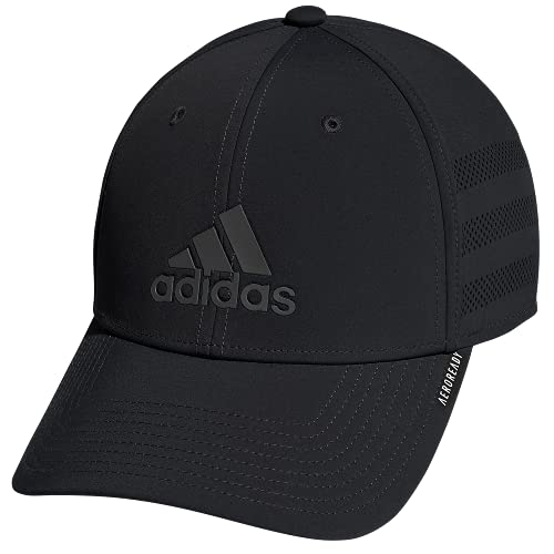 adidas Gameday Stretch Fit Structured Cap,Black,S/M