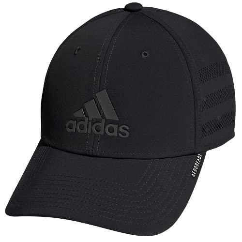 adidas Gameday Stretch Fit Structured Cap Gorras de béisbol, Negro, L/XL para Hombre