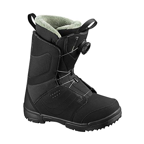 Salomon Pearl BOA Womens Snowboard Boots Black Sz 9.5