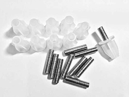 Kit 10 Pezzi Adattatore Portalampada Per Bottiglia Completi Con Asse Filattato 40mm