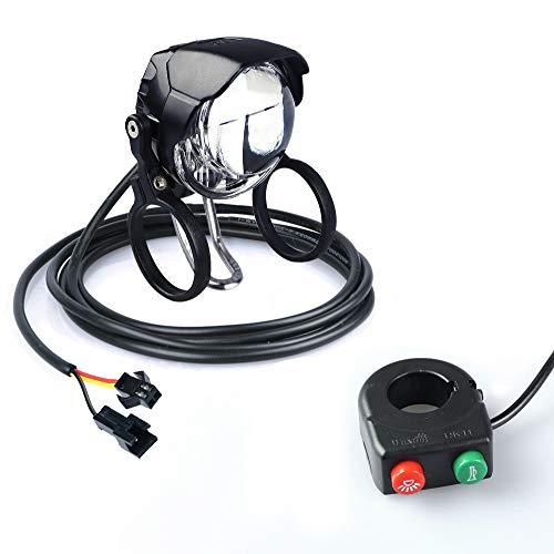 JUNSTAR-EU Elektrisches Fahrrad Scheinwerfer Ebike Elektrisches Fahrrad LED Licht Frontleuchte mit Horn (EF-985CS)