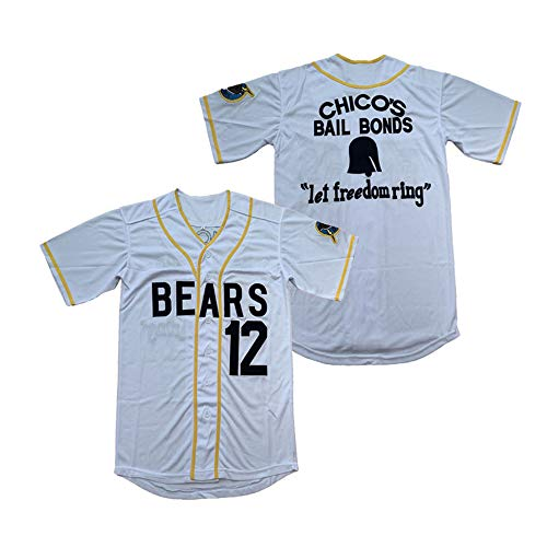 PHM Men Bad News Bears 3 Kelly Leak 12 Tanner Boyle 1976 Chico's Bail Bonds Movie Baseball Jersey Stitched S-XXXL (12 Tanner Boyle White, X-Large)
