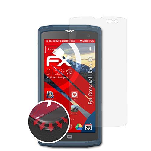 atFolix Schutzfolie kompatibel mit Crosscall Core X3 Folie, entspiegelnde & Flexible FX Bildschirmschutzfolie (3X)