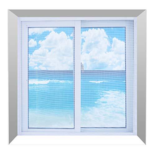 HTDG Vliegengaas, insectenwerende horren voor ramen, klittenband, raam wit, vliegengaas, weefsel van glasvezel, aluminium